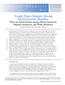Download Tough Times Require Strong Social Security Benefits (pdf)