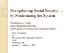 Strengthening Social Security … by Modernizing the System
